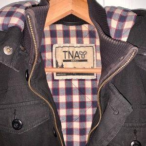 TNA black winter coat
